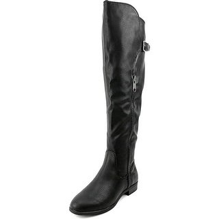 Rialto First Row Women Pointed Toe Synthetic Black Over the Knee Boot