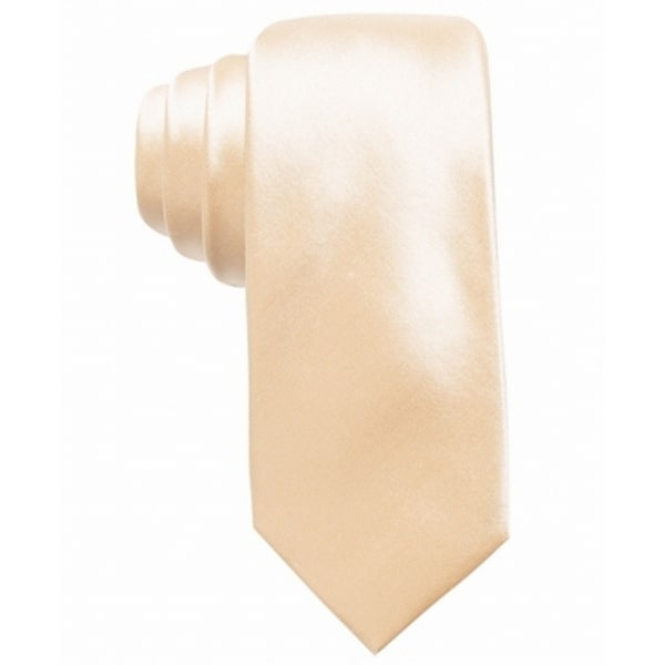 f0bb65f13768 Shop Alfani Gold Avenue Solid Men's Silk Woven Satin Skinny Neck Tie - Free  Shipping On Orders Over $45 - Overstock - 28353917