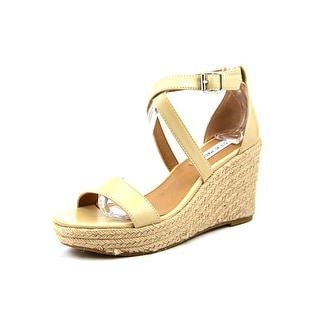 Steve Madden Montaukk Women Open Toe Synthetic Nude Wedge Sandal
