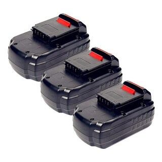 Battery for Porter Cable PC18B (3-Pack) Powertool Battery