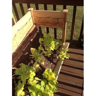 Wooden Raised Vegetable Garden Bed Elevated Grow Vegetable Planter W/Black Liner
