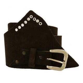 Renato Balestra Myeisha NR BLack Leather Womens Belt - 36