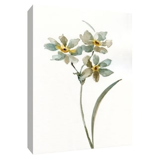 "PTM Images 9-148721  PTM Canvas Collection 10"" x 8"" - ""Neutral Botanical I"" Giclee Flowers Art Print on Canvas"