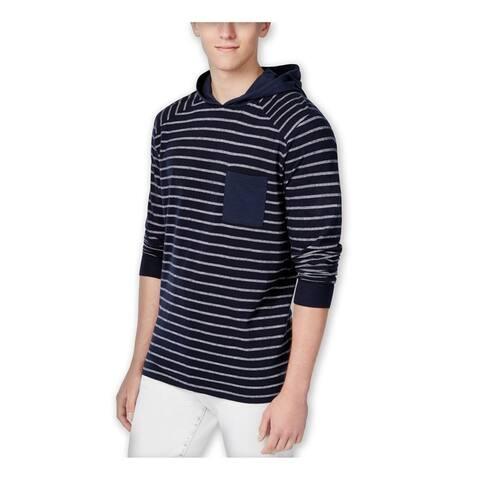 Wht Space Mens Striped Hoodie Sweatshirt