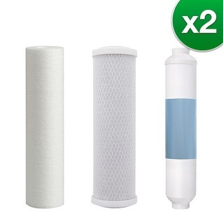 Watts Premier 4 Stage RO (Reverse Osmosis) Replacement Water Filter Kit Without RO Membrane (2 Pack)