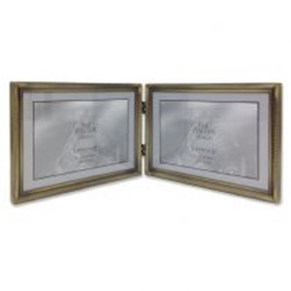 Shop Lawrenceframes 7 X 5 In Hinged Double Picture Frame Bronze
