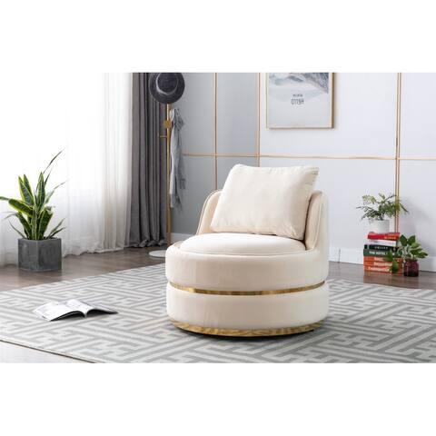 Nestfair Modern Swivel Accent Chair Barrel Chair