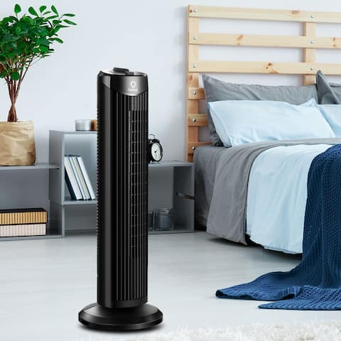 """28"""" Oscillating Tower Fan 3 Wind Outlet Speed Space Cooling 35W"""