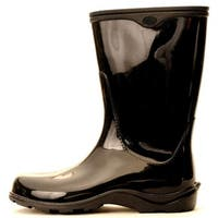 Size 10 Black Womens  Waterproof Rain Boots