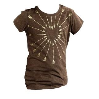 Roper Western Shirt Girls S/S Arrow Heart Brown 03-009-0513-6045 BR