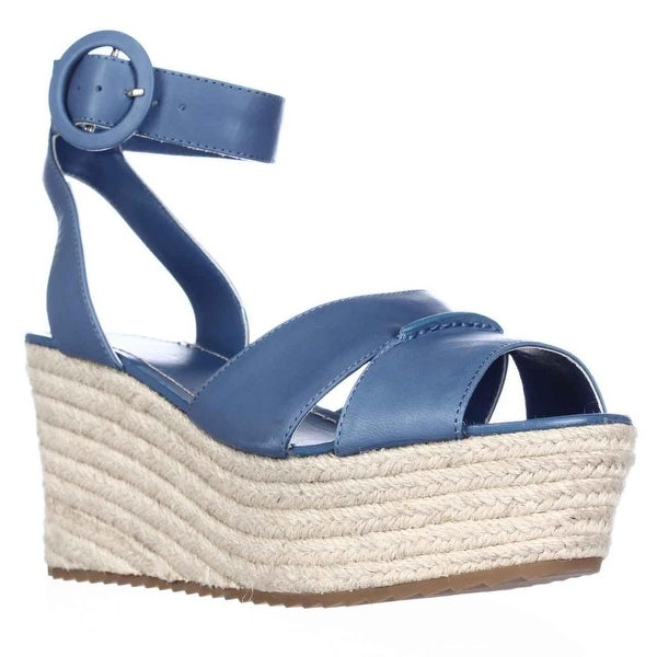 Alice and Olivia Roberta Platform Espadrille Wedge Sandals, Umbrella Blue