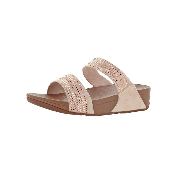 c2b8a8214db5 Shop Fitflop Womens Incastone Slide Sandals Microwobbleboard Studded ...