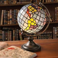 Stained Glass Globe Accent Desk Lamp