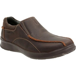 Clarks Men's Cotrell Step Bicycle Toe Shoe Brown Oily Cow Full Grain Leather