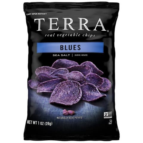 Terra Chips Exotic Vegetable Chips - Blues - Case of 24 - 1 oz.