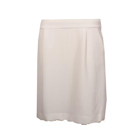 Tommy Hilfiger Ivory Scalloped A-Line Skirt 10