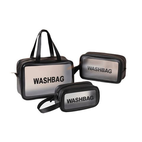 3-Pack Travel Transparent Toilet Bag Portable Storage Bag