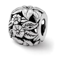 Sterling Silver Reflections Floral Bali Bead (4mm Diameter Hole)