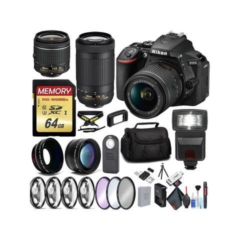 Nikon D5600 DSLR Camera w/18-55mm & 70-300mm Lenses Bundle 87