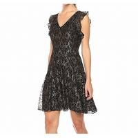 Tommy Hilfiger Womens Metallic Lace Sheath Dress