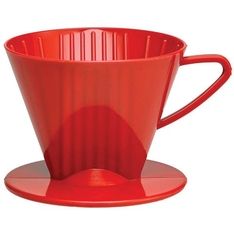 Harold Import 2662RD Coffee Filter Cone, Red