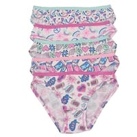 1000% Cute Girls Pink Blue Comic Print Cotton 5 Pc Underwear Set