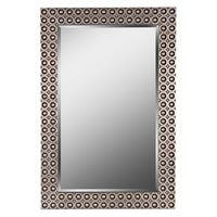 """Kenroy Home 60221 Bearings 42"""" x 28"""" Wide Rectangular Beveled Framed Mirror - Silver and Gold"""