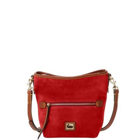 Dooney & Bourke Camden Suede Mini Hobo Crossbody Shoulder Bag