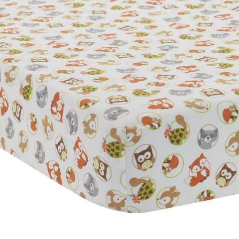 Bedtime Originals Friendly Forest Woodland Animals Baby Fitted Crib Sheet