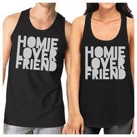 Homie Lover Friend Couples Workout Outfits Black Matching Tank Tops