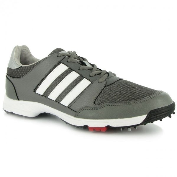 Adidas Men's Tech Response 4.0 Iron Metallic/White/Core Black Golf Shoes Q47083 / F33464