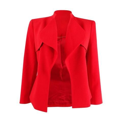 Anne Klein Women's Cascade-Collar Open-Front Blazer