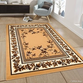 "Allstar Brown Woven High Quality Rug. Traditional. Persian. Flower. Western. Design Area Rug (5' 2"" x 7' 1"")"