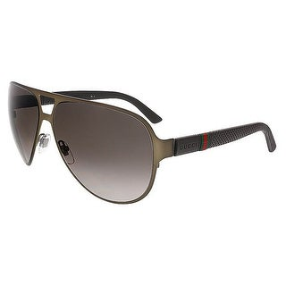 Gucci GG2252/S R42 HA Brushed Brown Aviator Gucci Sunglasses