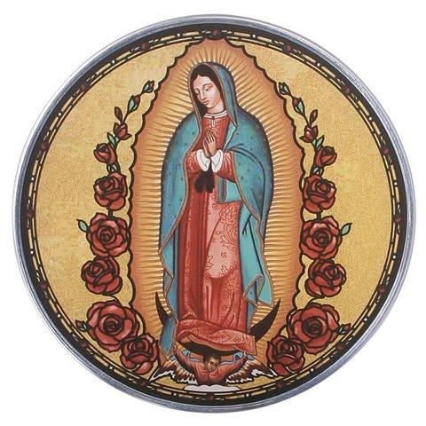 Design Toscano Our Lady of Guadalupe Art Glass