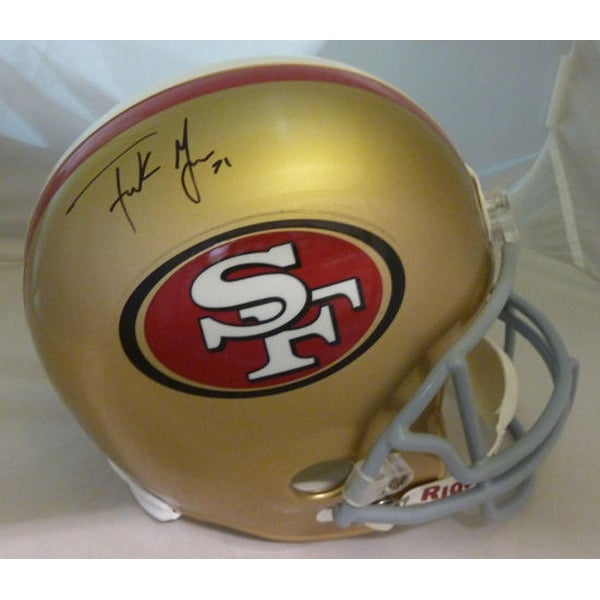 fff8a5eaf Shop Frank Gore Autographed San Francisco 49ers Replica Helmet JSA - Free  Shipping Today - Overstock.com - 22390315
