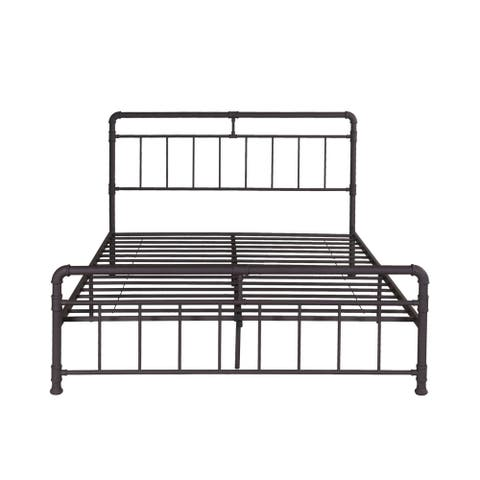 84.5 inch  Black Contemporary Queen Size Bed Frame