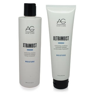 AG Hair Xtramoist Shampoo 10 oz & Ultramoist Conditioner 6 oz - Combo Pack