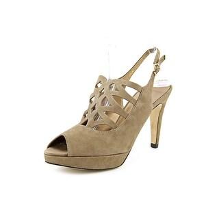 Vaneli Varena Women Open Toe Suede Brown Sandals