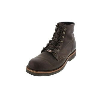 Chippewa Mens Apache Lacer Work Boots Leather Lace-Up - 10 extra wide (e+, ww)
