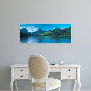Easy Art Prints Panoramic Images's 'Opunohu Bay, Moorea, French Polynesia' Premium Canvas Art