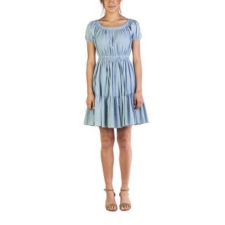 Miu Miu Women's Cotton Ribbed Dress Blue