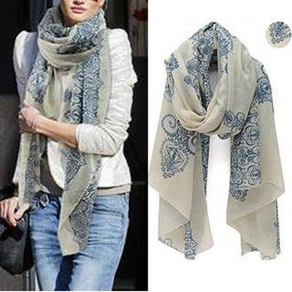 Lightweight Trendy Floral Scarf Comes In 6 Colors
