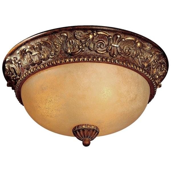 Minka Lavery ML 959 3 Light Flush Mount Ceiling Fixture from the Belcaro Collection - belcaro walnut