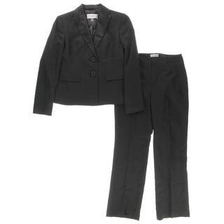 Le Suit Womens Petites Pant Suit Long Sleeves 2PC