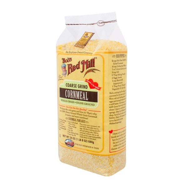 Bob's Red Mill Coarse Grind Cornmeal - 24 oz - Case of 4