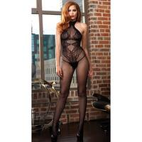 8b33342ba1c High Neck Fishnet And Lace Bodystocking