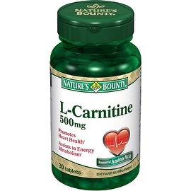 Nature's Bounty L-Carnitine 500 mg Tablets 30 Tablets