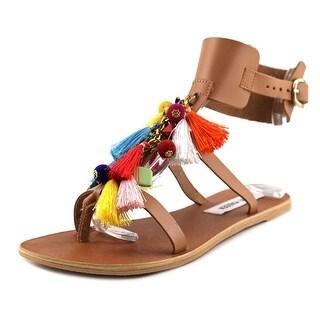 Steve Madden Colorful Women  Open-Toe Synthetic Brown Slingback Sandal