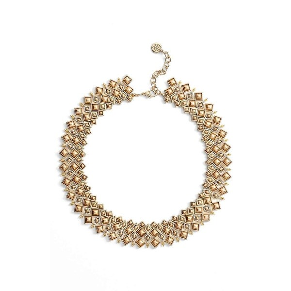 House of Harlow by Nicole Richie Womens Kraals Statement Necklace Diamond Shaped - GOLD